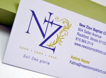 NEW ZION Business Card